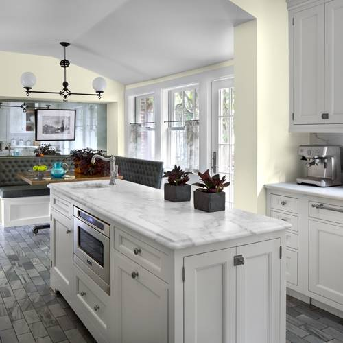 French Laundry New Kitchen: French Gray Linen Paint Colour
